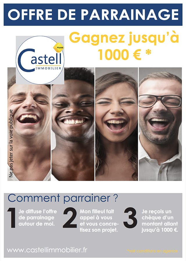Graphisme site Castell Immobilier